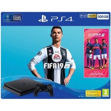 PlayStation 4 SLIM Bundle (500 Gb, FIFA 19), 235368, Консоли